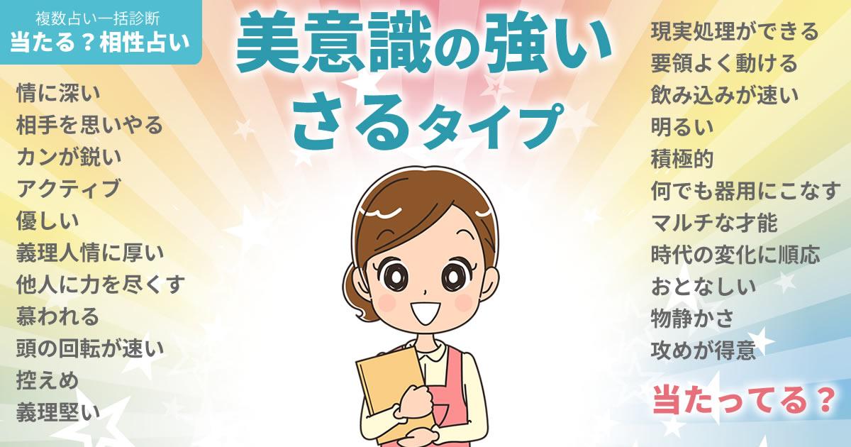 吉高由里子さんの占いまとめ 美意識の強いさるタイプ