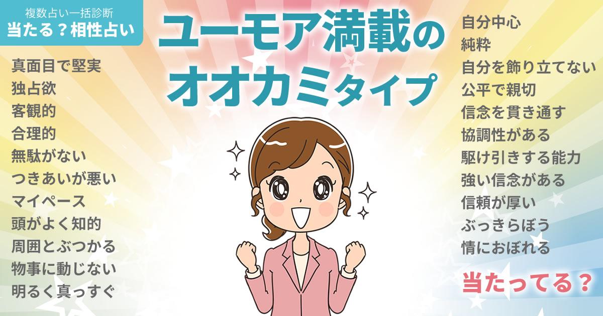 百田夏菜子さんの占いまとめ ユーモア満載のオオカミタイプ