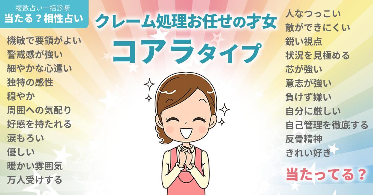 橋本愛さんの占いまとめ クレーム処理お任せの才女コアラタイプ