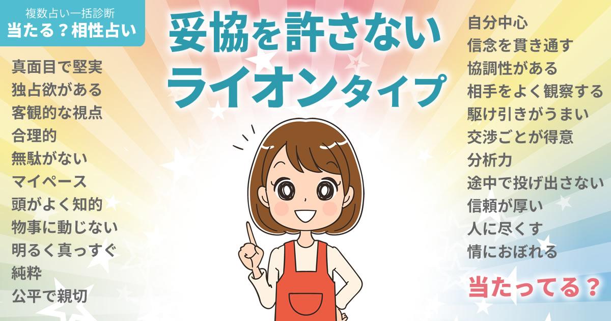 藤井夏恋さんの占いまとめ 妥協を許さないライオンタイプ