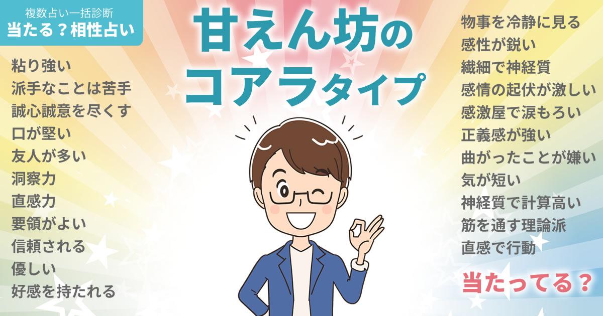 瀬戸康史さんの占いまとめ 甘えん坊のコアラタイプ
