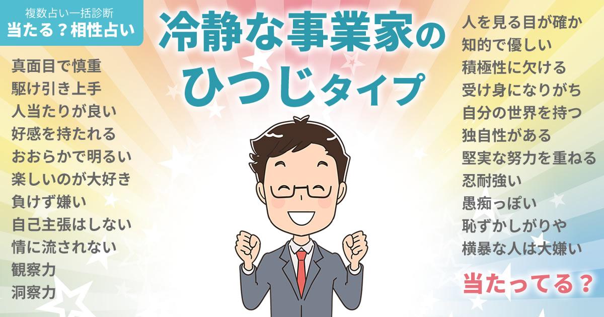 中川大志さんの占いまとめ 冷静な事業家のひつじタイプ