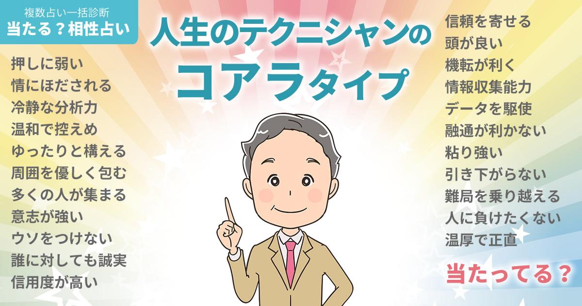 鈴木崇司さんの占いまとめ 人生のテクニシャンのコアラタイプ