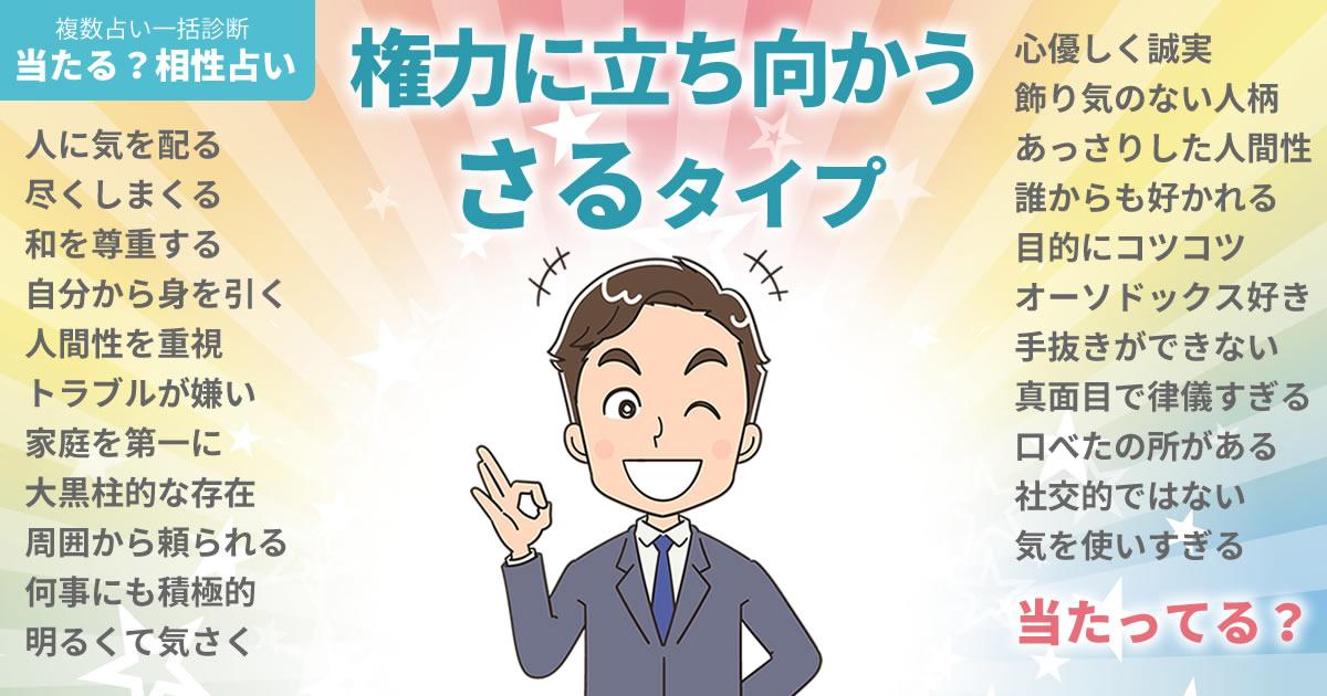 松田龍平さんの占いまとめ 権力に立ち向かうさるタイプ