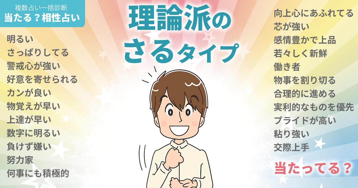 増田貴久さんの占いまとめ 理論派のさるタイプ