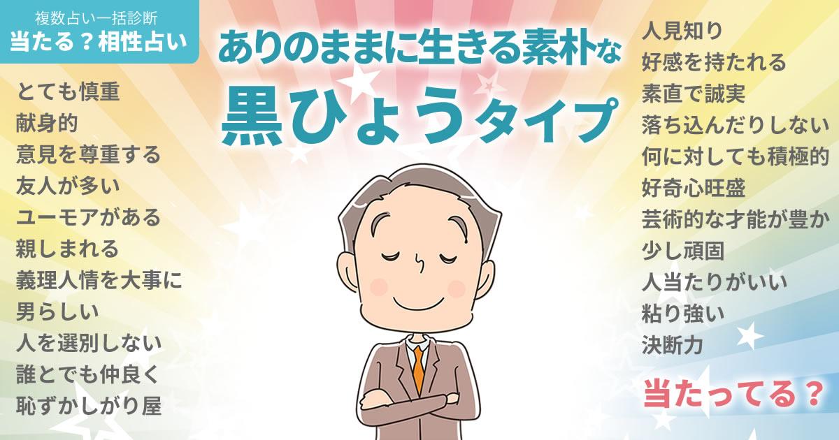 井口理さんの占いまとめ ありのままに生きる素朴な黒ひょうタイプ